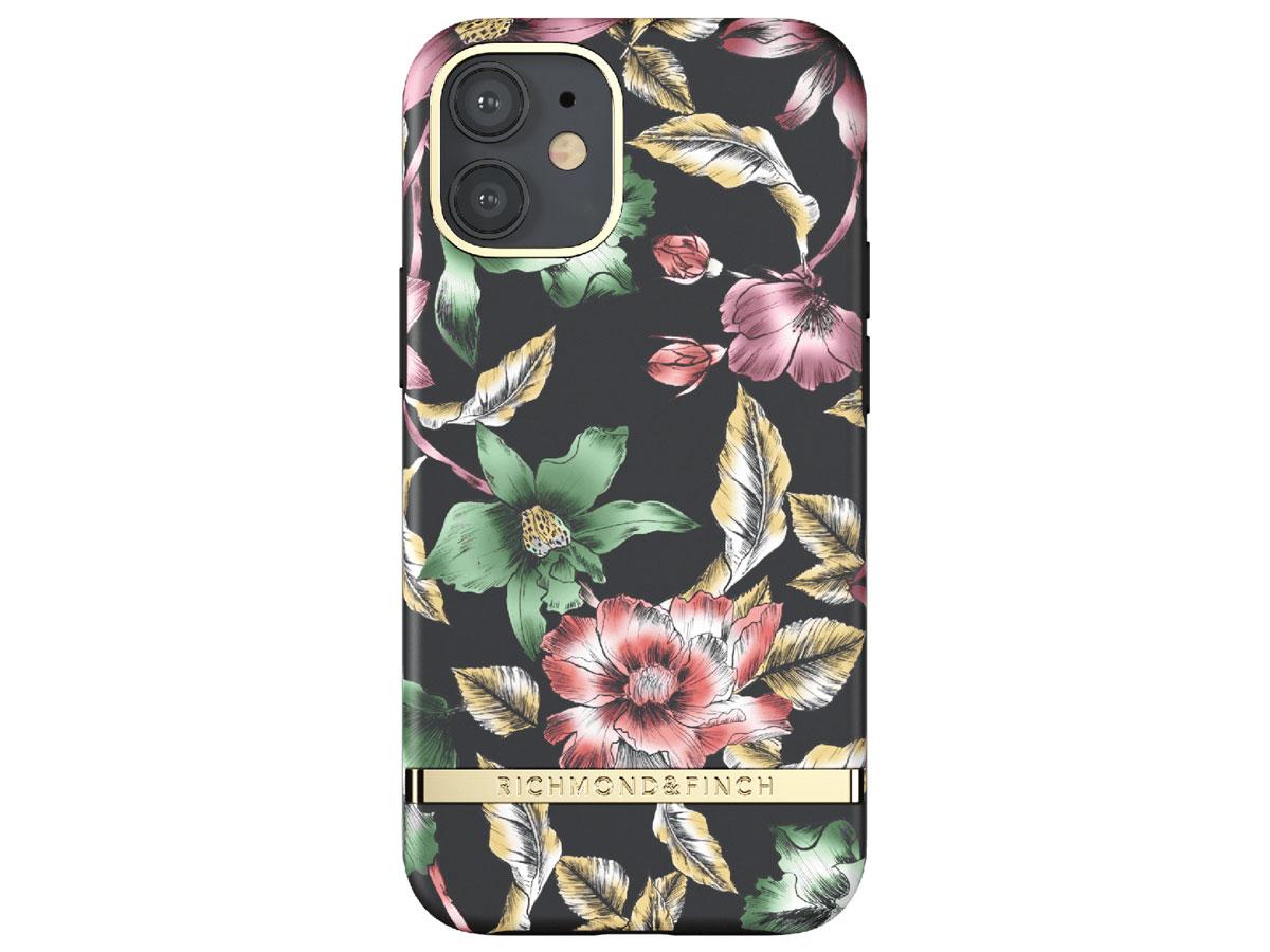 Richmond & Finch Flower Show Case - iPhone 12 Mini hoesje Zwart