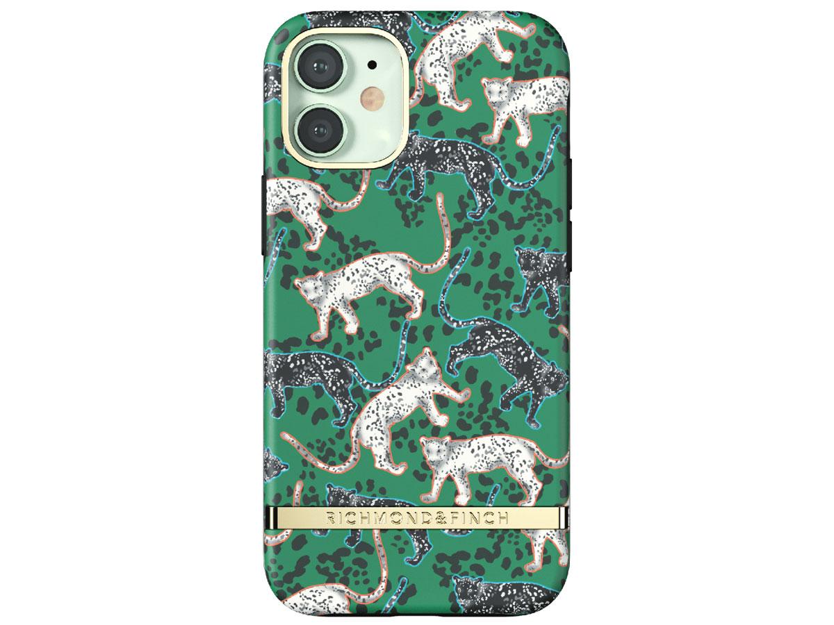 Richmond & Finch Green Leopard Case - iPhone 12 Mini hoesje Groen