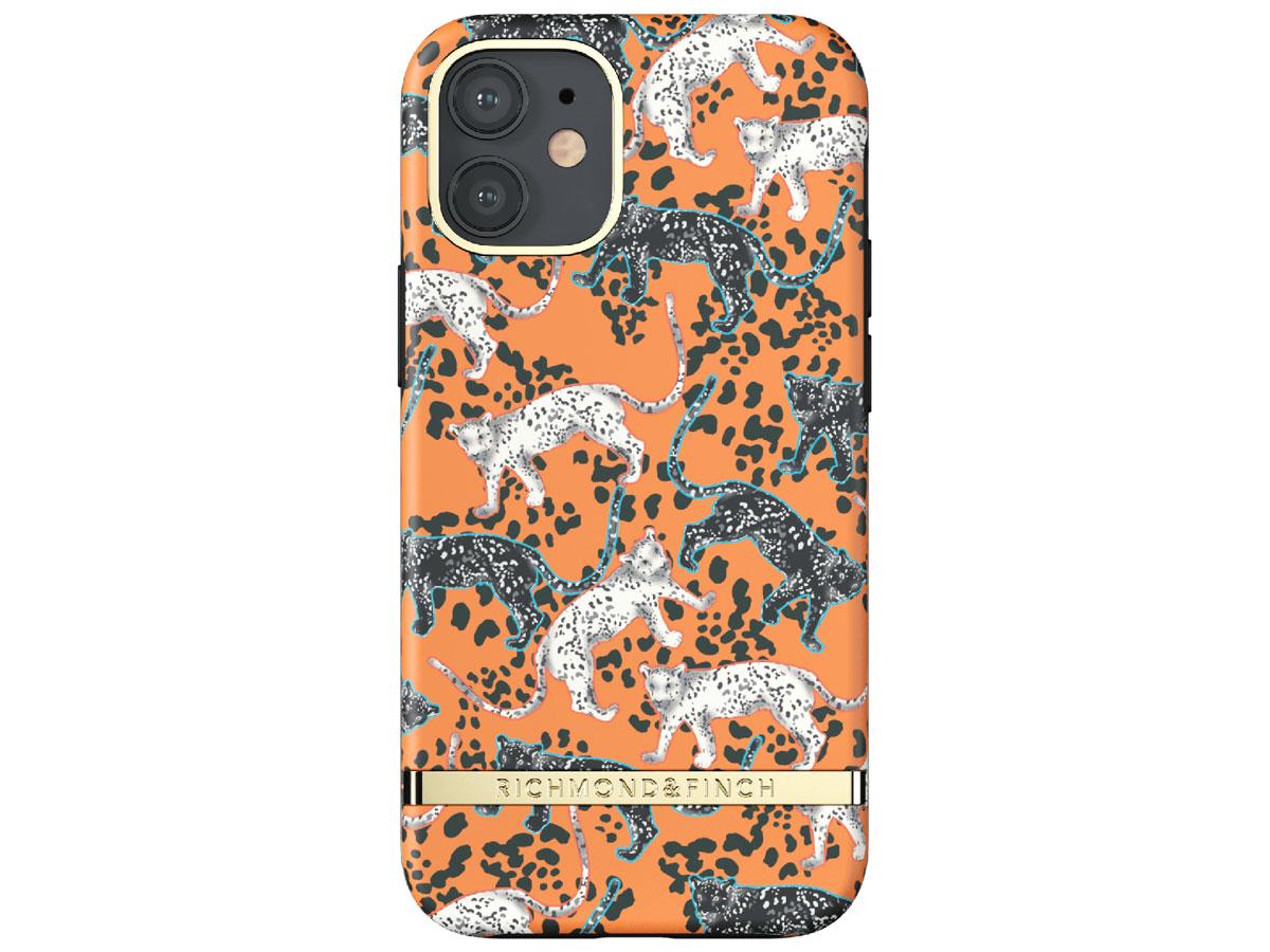 Richmond & Finch Orange Leopard Case - iPhone 12 Mini hoesje Oranje