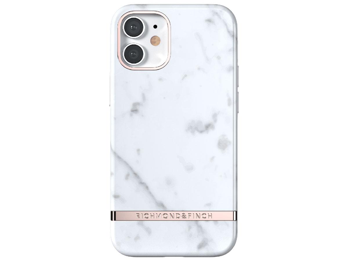 Richmond & Finch White Marble Case - iPhone 12 Mini hoesje Wit