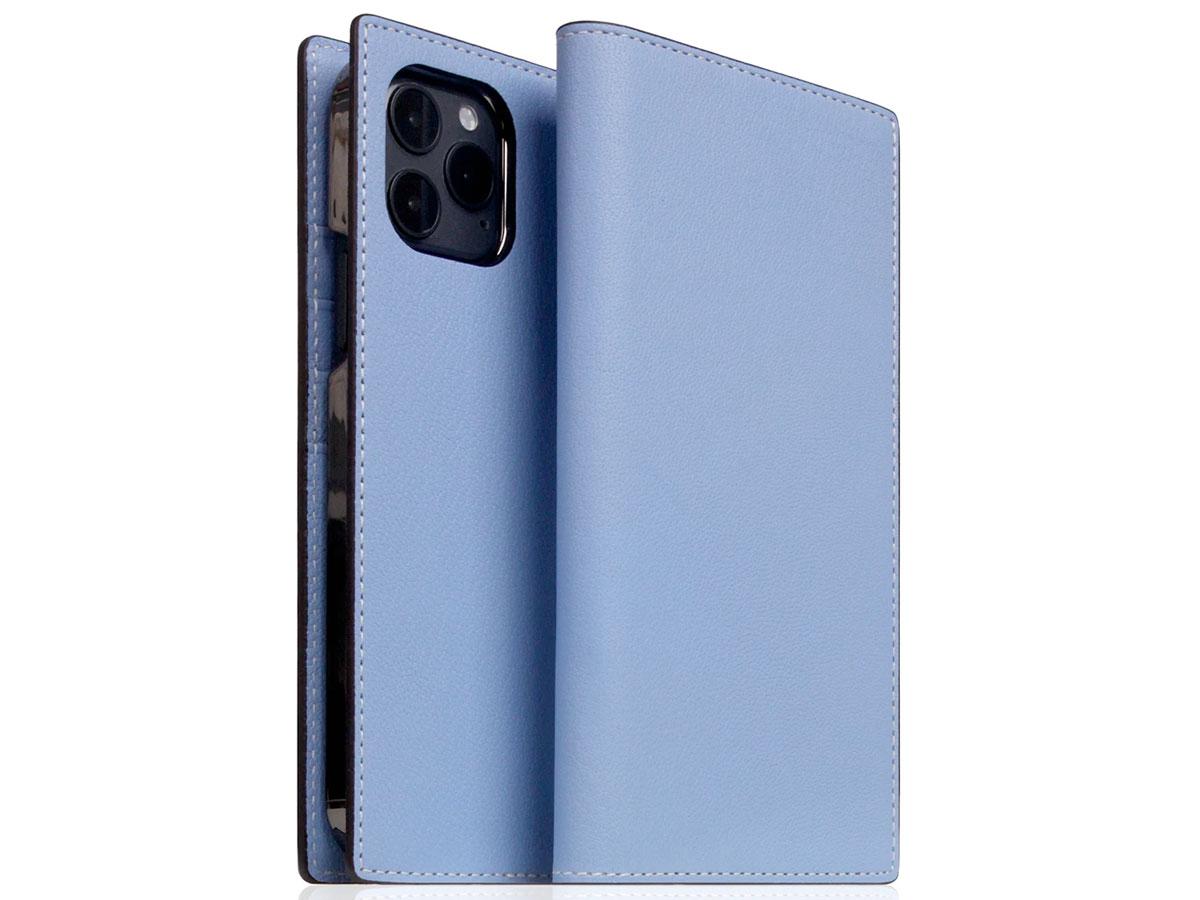 SLG Design D9 Chevere Sully Leer Blauw - iPhone 12 Mini hoesje