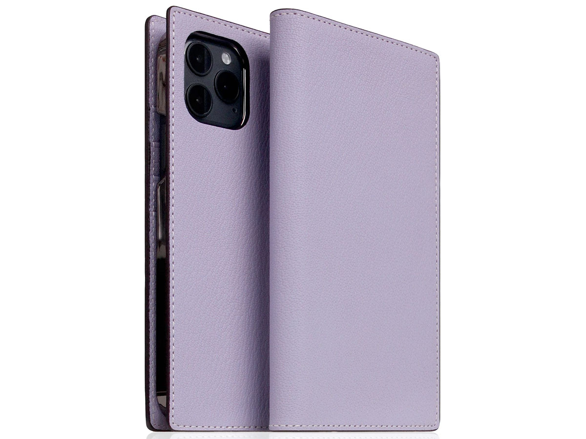SLG Design D9 Chevere Sully Leer Paars - iPhone 12 Mini hoesje