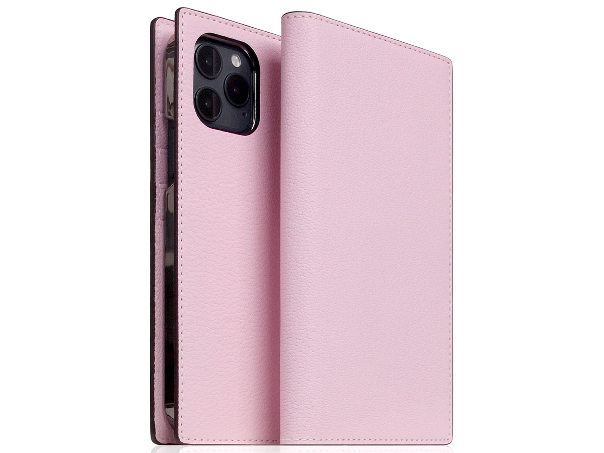 SLG Design D9 Chevere Sully Leer Roze - iPhone 12 Mini hoesje