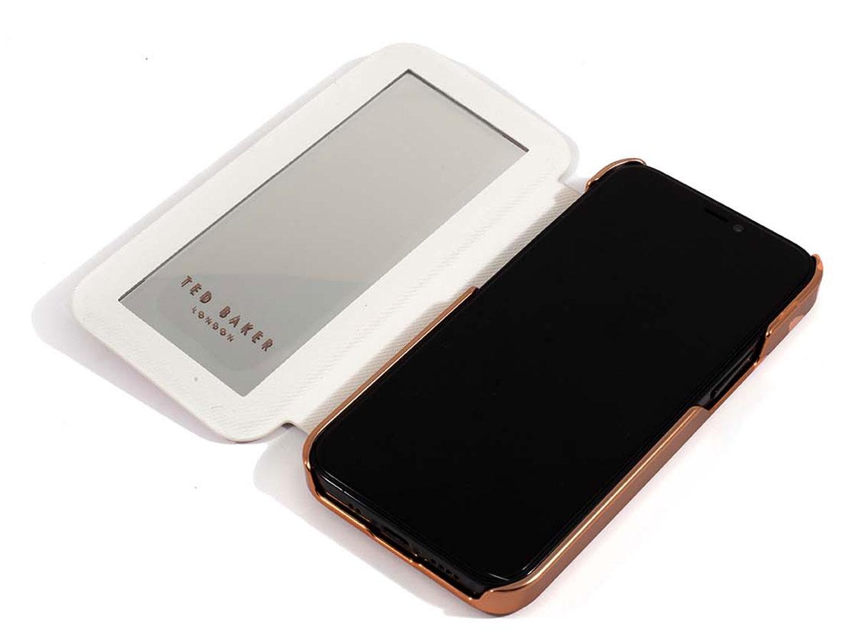 Ted Baker Jasmine Mirror Folio Case - iPhone 12 Mini Hoesje