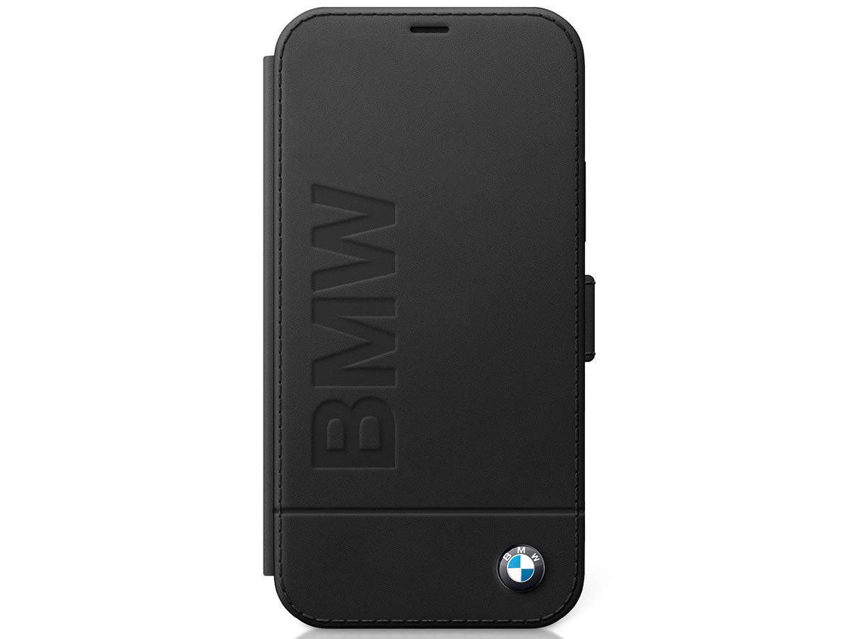 BMW Signature Bookcase Zwart Leer - iPhone 12/12 Pro hoesje