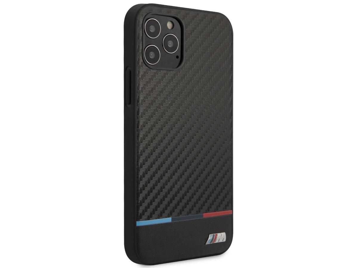 BMW M Sport Tricolor Carbon Case - iPhone 12/12 Pro hoesje