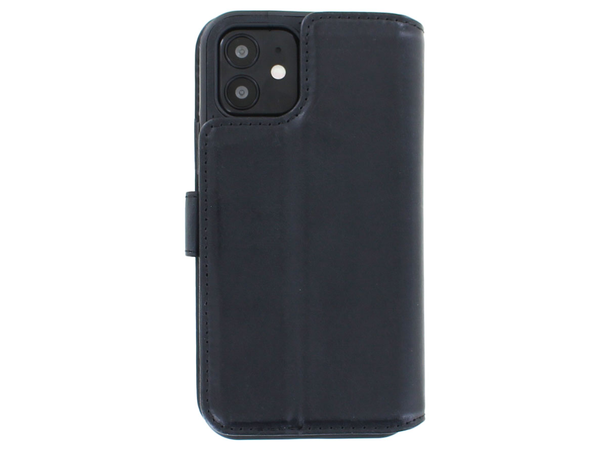Classic 2in1 Leather Case Paars - iPhone 12/12 Pro Hoesje Leer