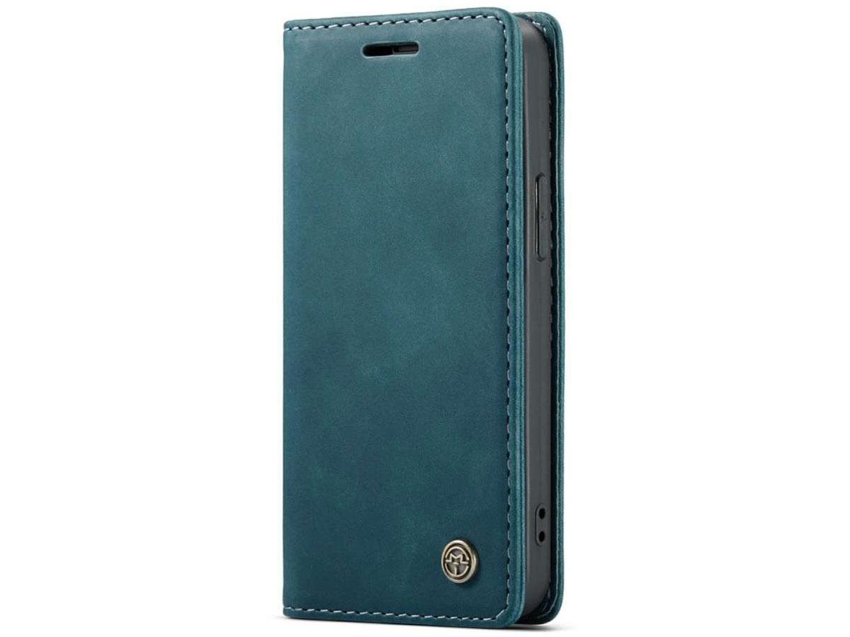 CaseMe Vintage Bookcase Blauw - iPhone 12/12 Pro hoesje