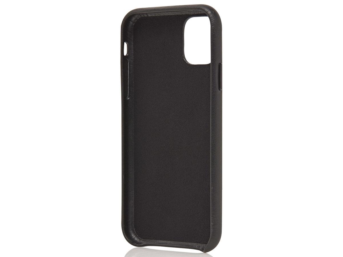 Castelijn & Beerens Back Case Zwart Leer - iPhone 12/12 Pro hoesje