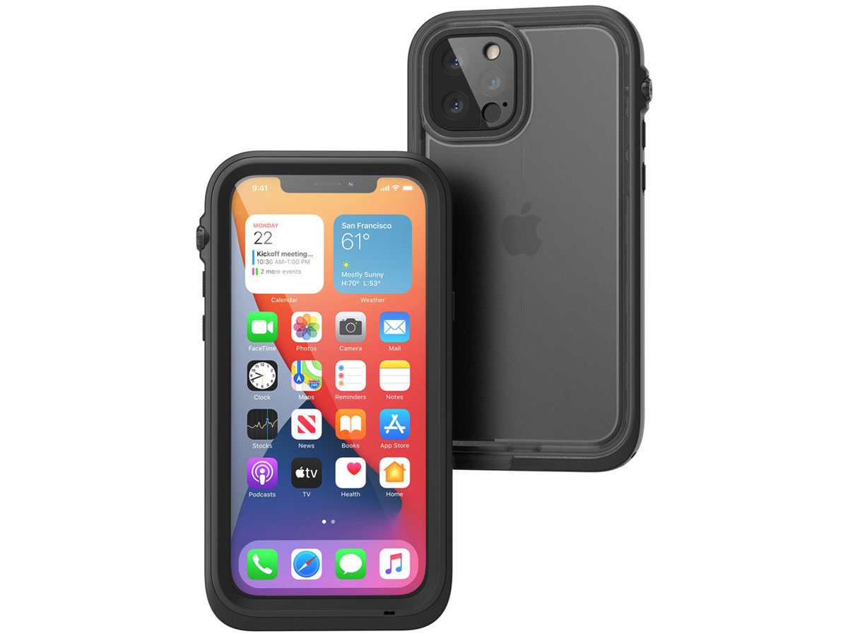 Catalyst Waterproof Case - Waterdicht iPhone 12 Pro hoesje Zwart