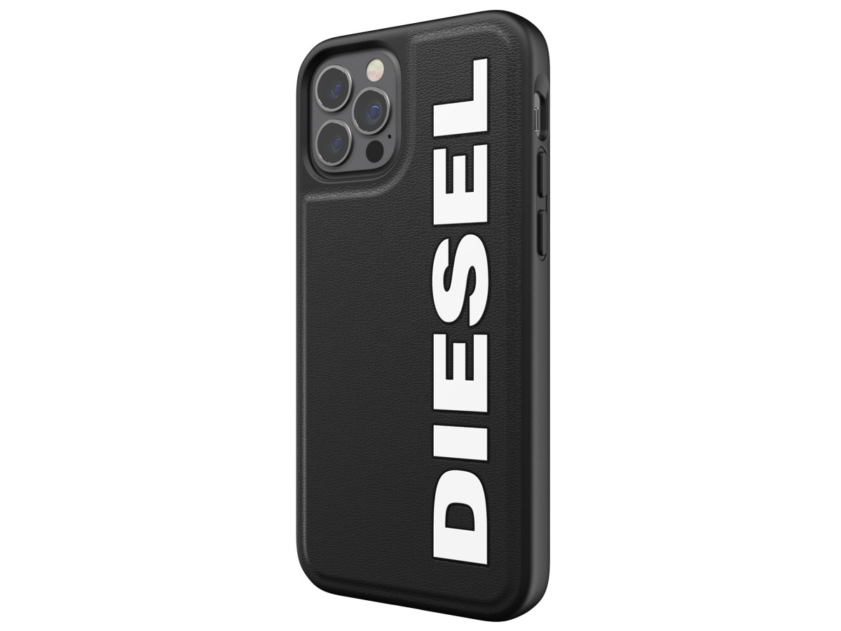 Diesel Logo Case Zwart - iPhone 12/12 Pro hoesje
