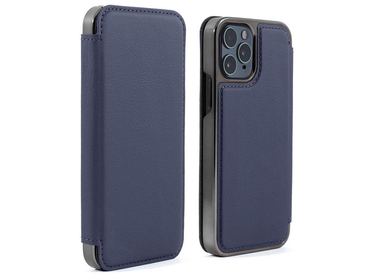 Greenwich Blake Leather Folio Portofino - iPhone 12 Pro Max Hoesje Donkerblauw