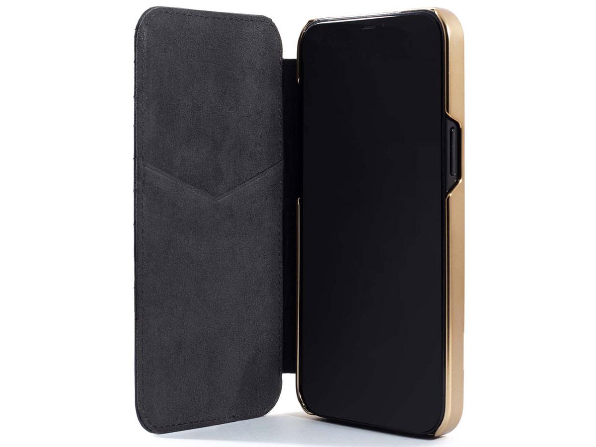 Greenwich Portland MagSafe Folio Beluga/Gold - iPhone 12/12 Pro Hoesje