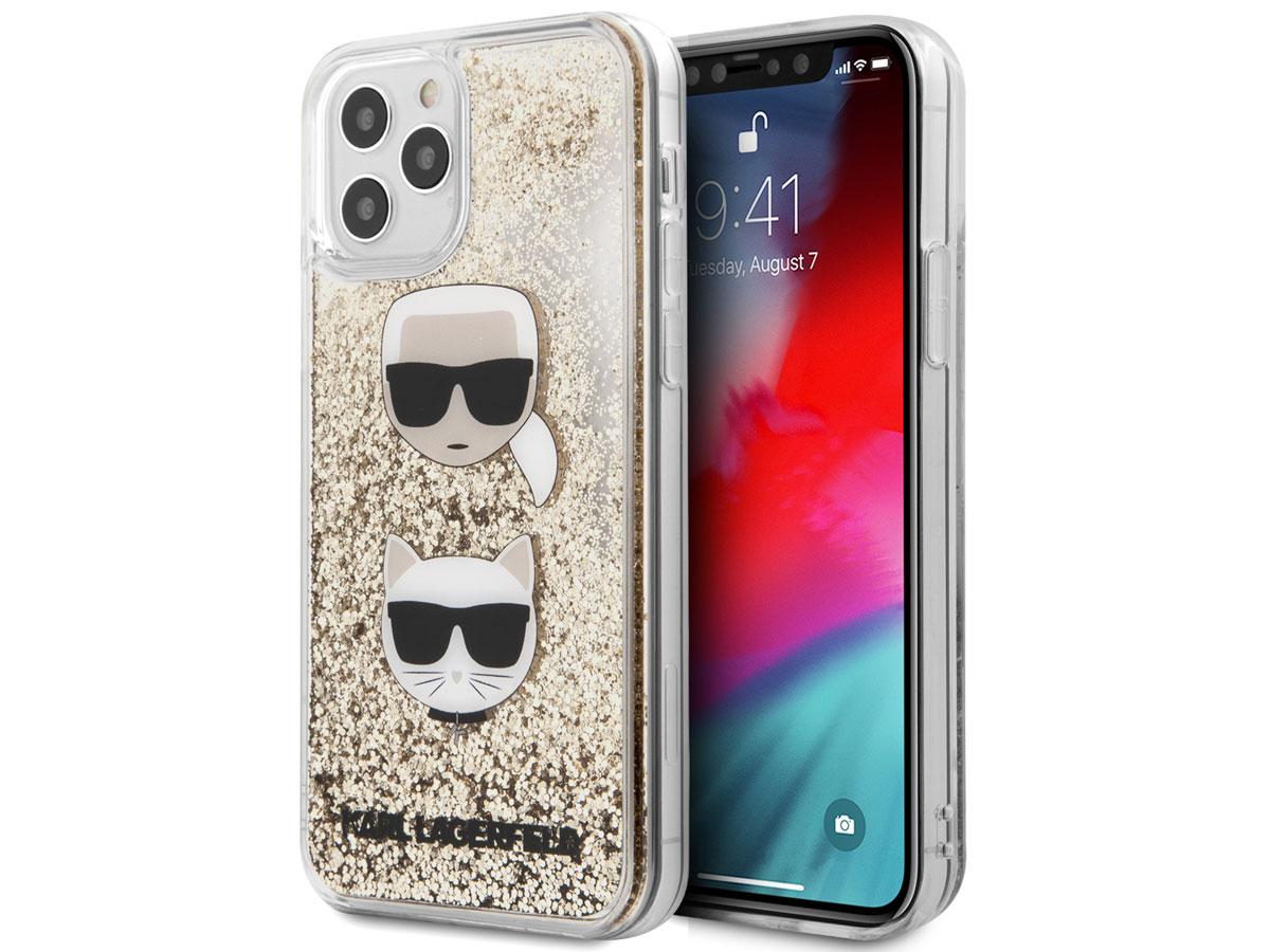 Karl Lagerfeld Choupette Glitter Case Goud - iPhone 12/12 Pro hoesje