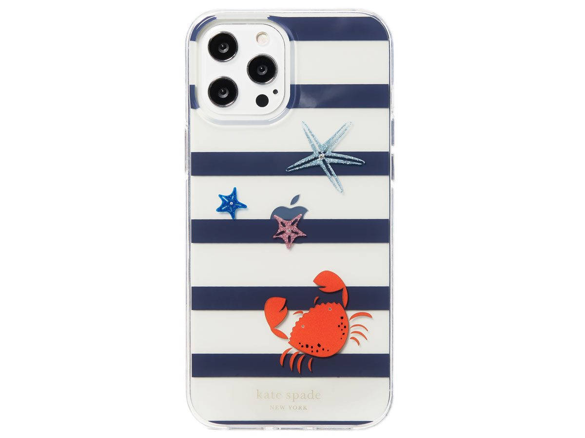Kate Spade Jeweled Sandcastle Case - iPhone 12/12 Pro hoesje