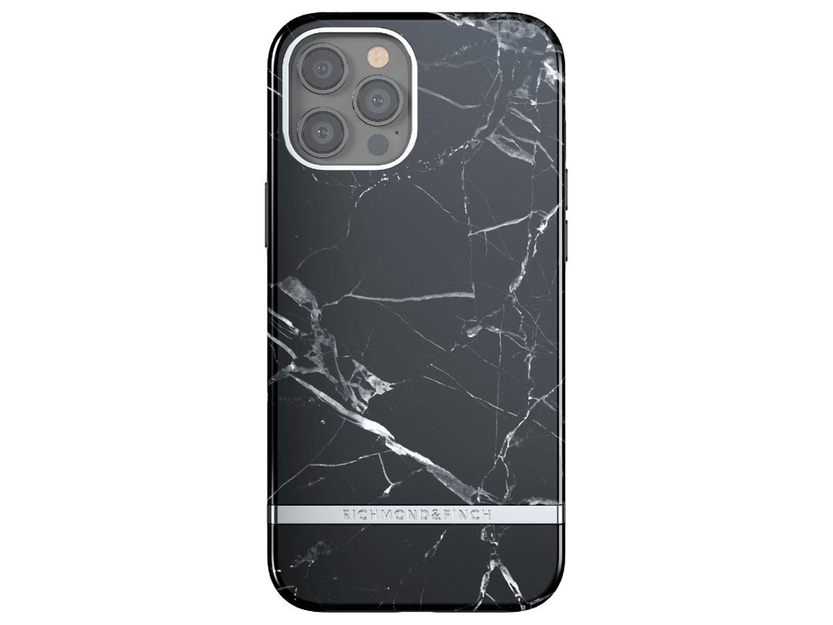 Richmond & Finch Black Marble Case - iPhone 12/12 Pro hoesje Zwart