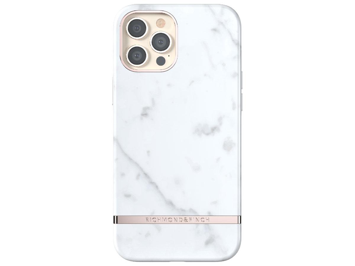 Richmond & Finch White Marble Case - iPhone 12/12 Pro hoesje Wit