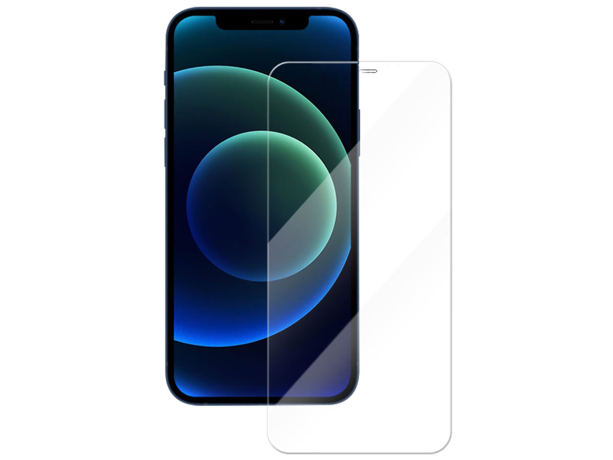 iPhone 12/12 Pro Screenprotector Full Clear Tempered Glass Transparant