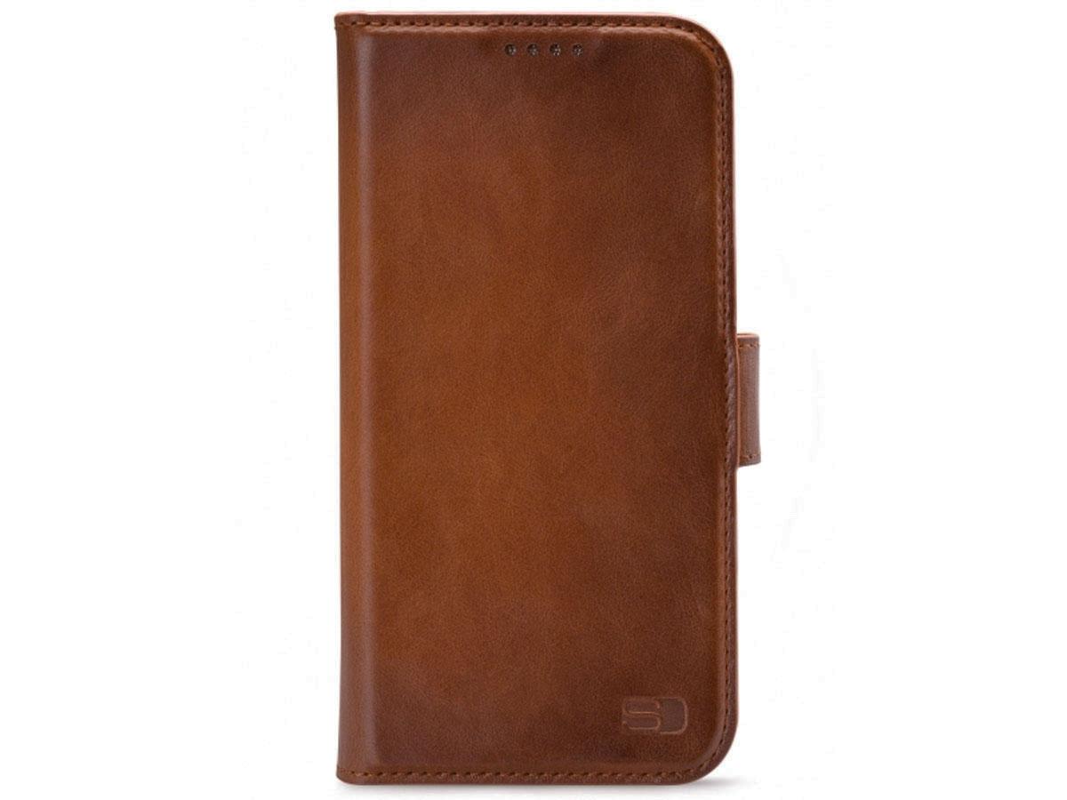 Senza Desire Bookcase Burned Cognac - iPhone 12/12 Pro hoesje Leer