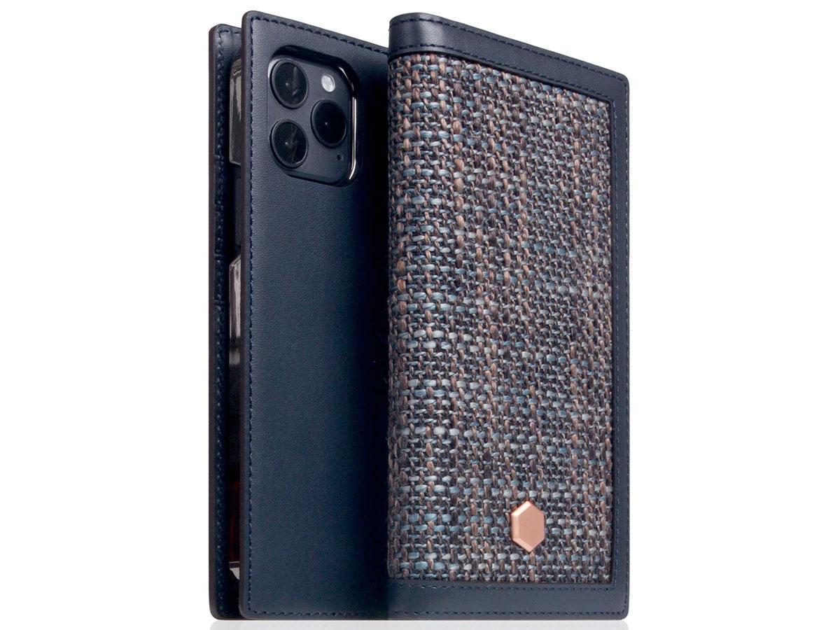 SLG Design D5 CSL Donkerblauw Leer - iPhone 12 Mini hoesje