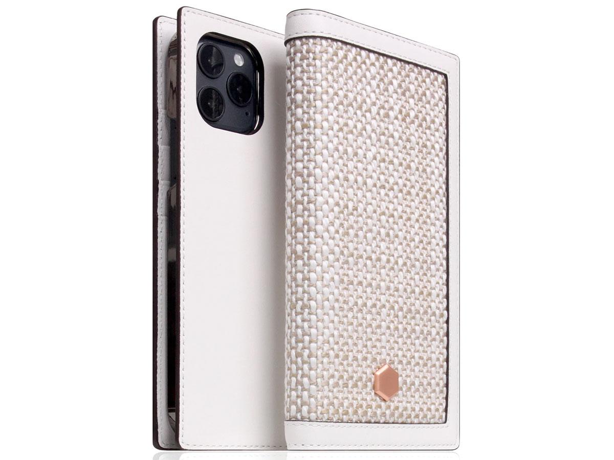 SLG Design D5 CSL Wit Leer - iPhone 12 Mini hoesje