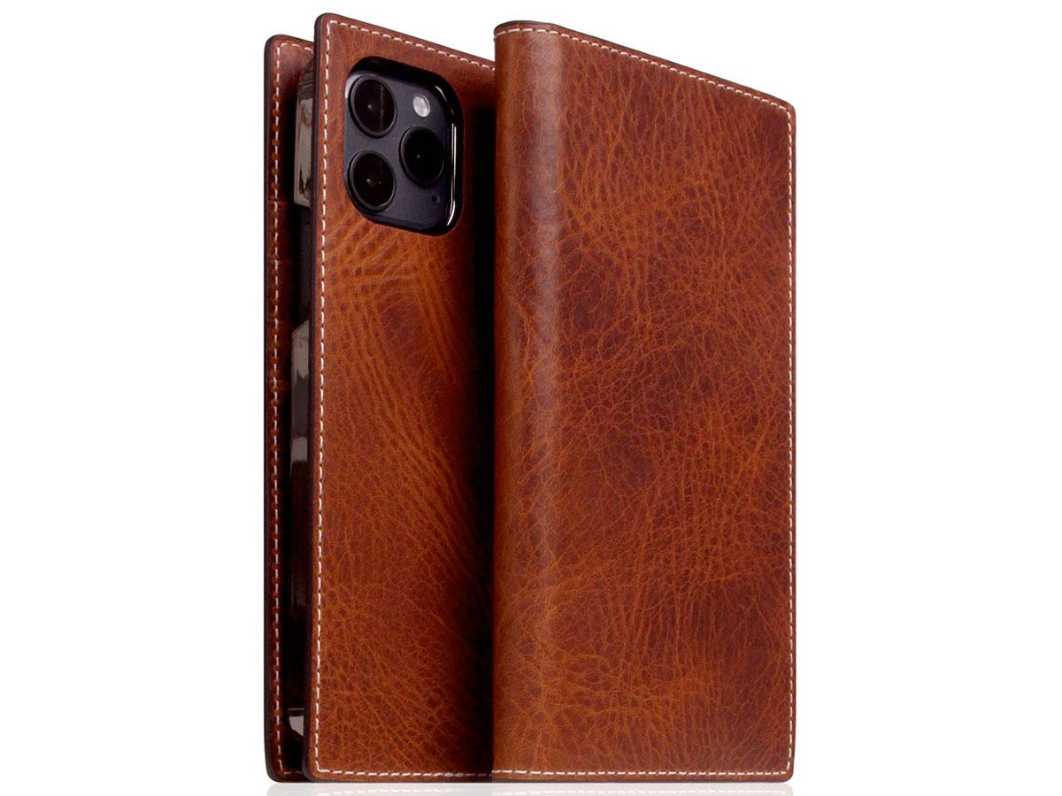 SLG Design D7 Italian Wax Leer Bruin - iPhone 12/12 Pro hoesje