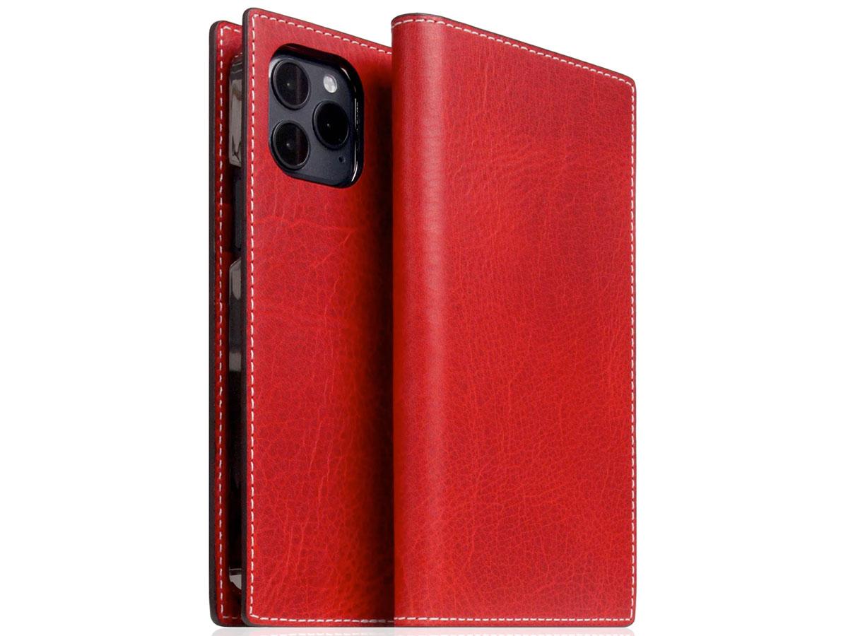 SLG Design D7 Italian Wax Leer Rood - iPhone 12 Mini hoesje