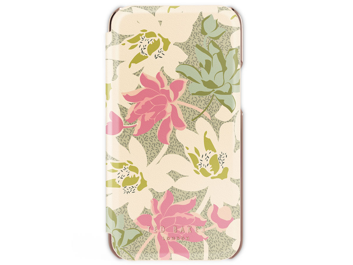 Ted Baker Cream Rose Folio Case - iPhone 12/12 Pro hoesje Bloemen Print