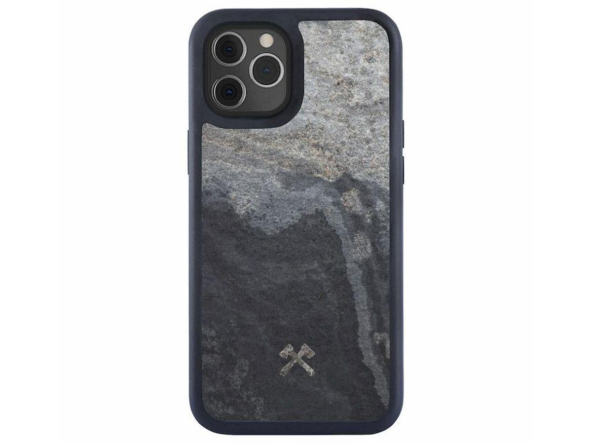 Woodcessories EcoBump Stone - iPhone 12/12 Pro hoesje van Steen Grijs