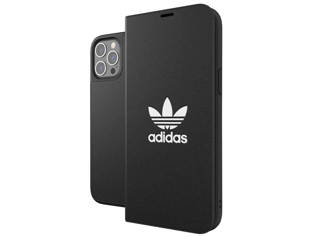 Adidas Originals Logo Booklet Case - iPhone 12 Pro Max hoesje Zwart
