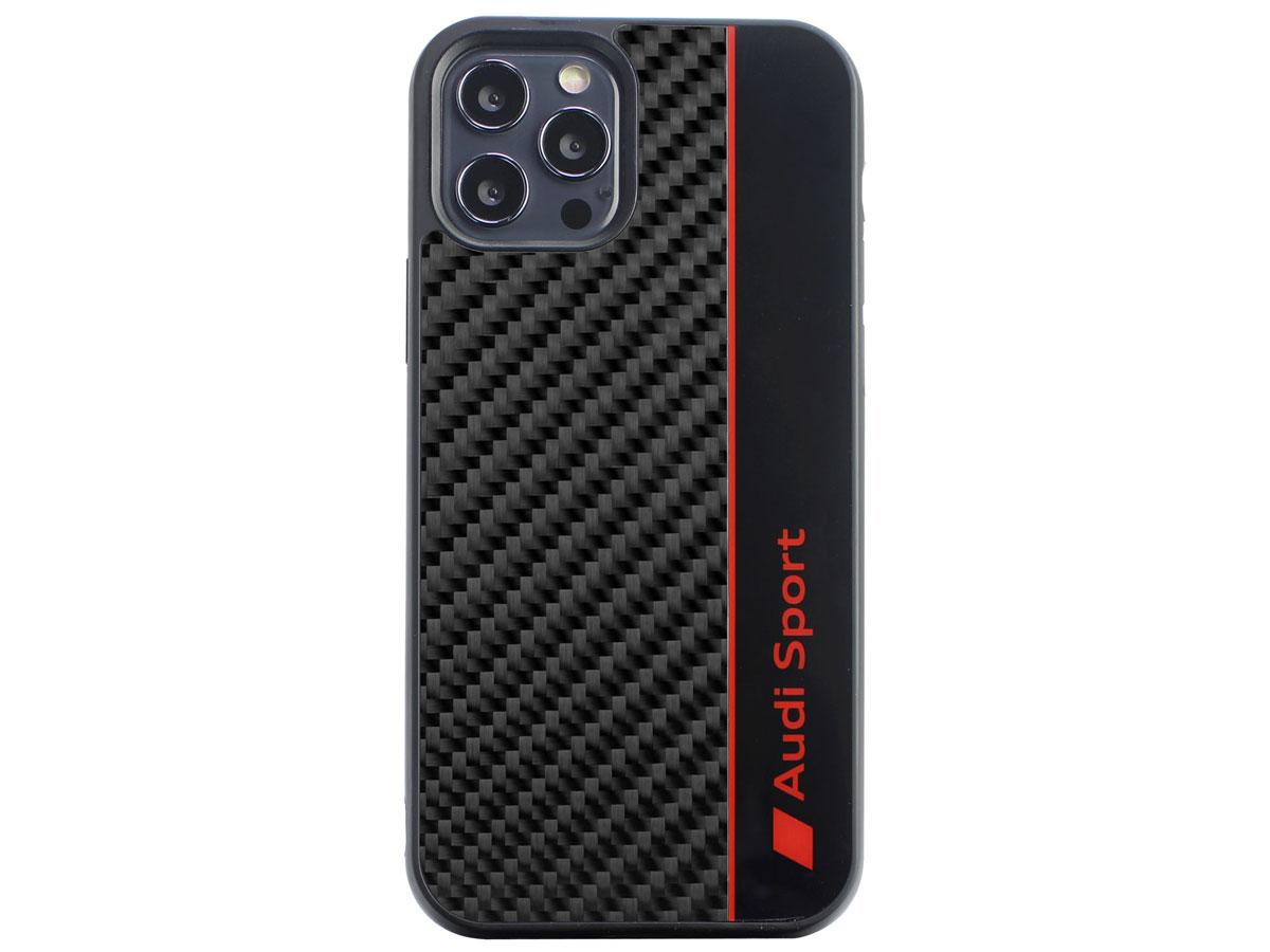 Audi R8 Series Carbon Case Zwart - iPhone 12 Pro Max hoesje