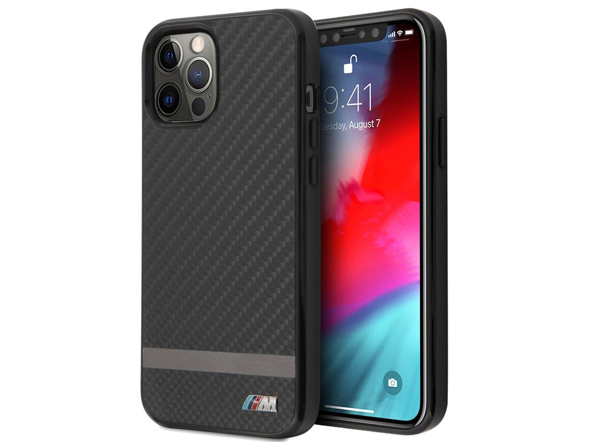 BMW M Line Carbon Case - iPhone 12 Pro Max hoesje Zwart