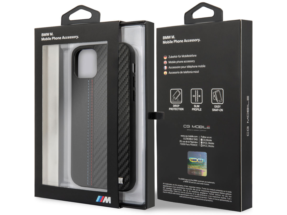 BMW M Sport Color Stitch Case - iPhone 12 Pro Max hoesje