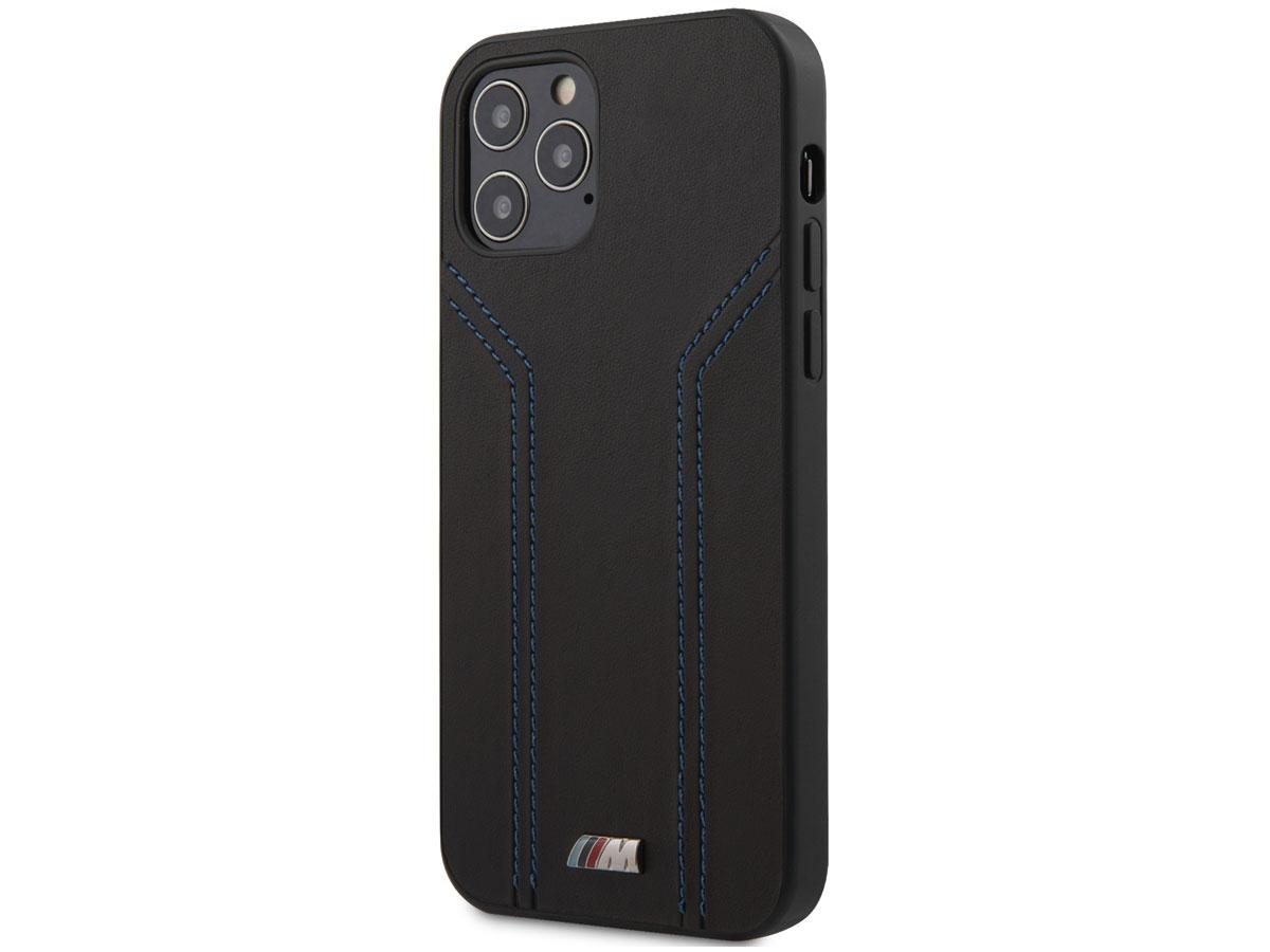 BMW M Sport Stitches Case - iPhone 12 Pro Max hoesje Zwart