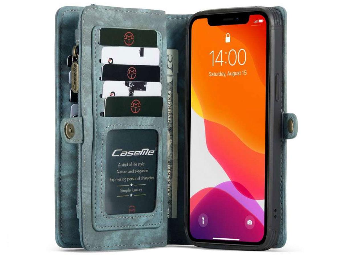 CaseMe 2in1 Wallet Case met Ritsvak Blauw - iPhone 12 Pro Max Hoesje