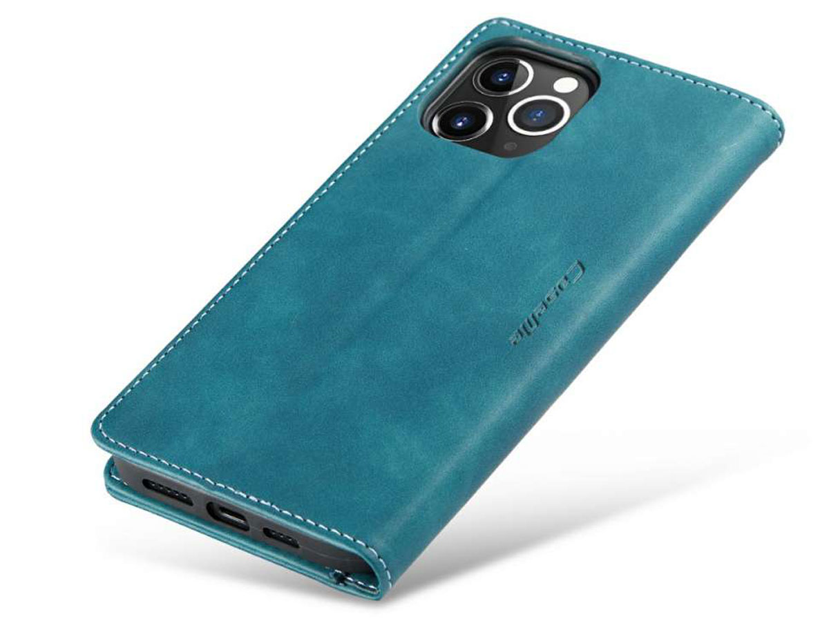 CaseMe Vintage Bookcase Blauw - iPhone 12 Pro Max hoesje
