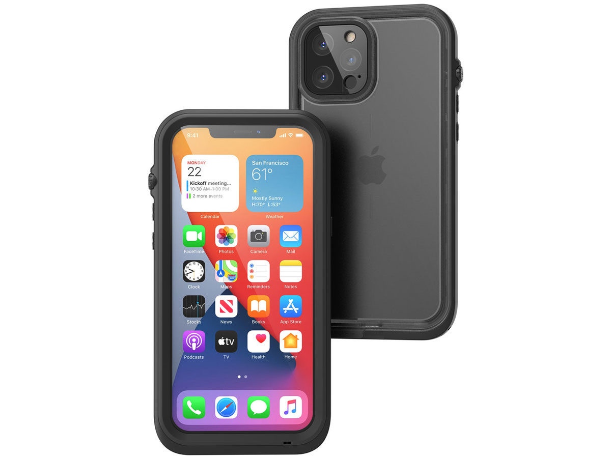 Catalyst Waterproof Case - Waterdicht iPhone 12 Pro Max hoesje Zwart