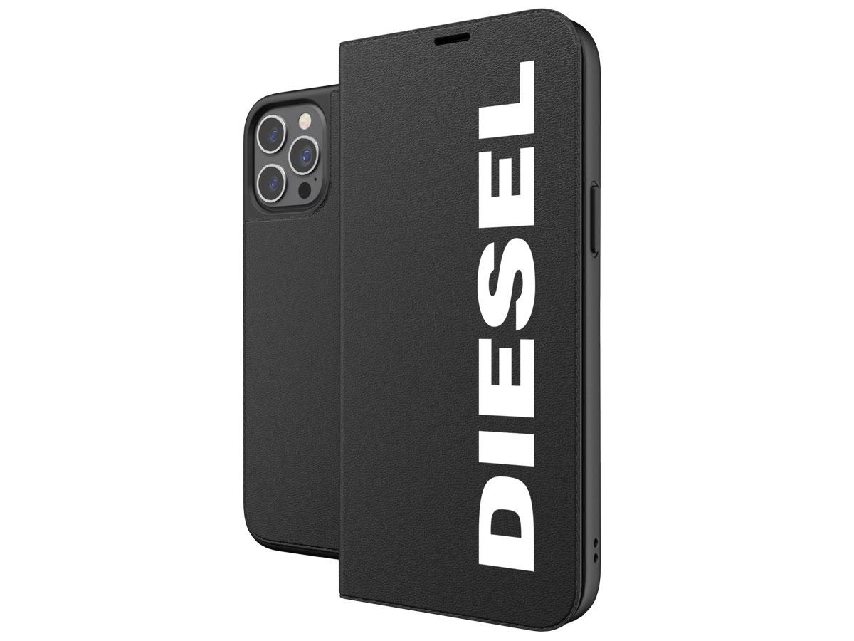 Diesel Logo Booklet Case - iPhone 12 Pro Max hoesje Zwart