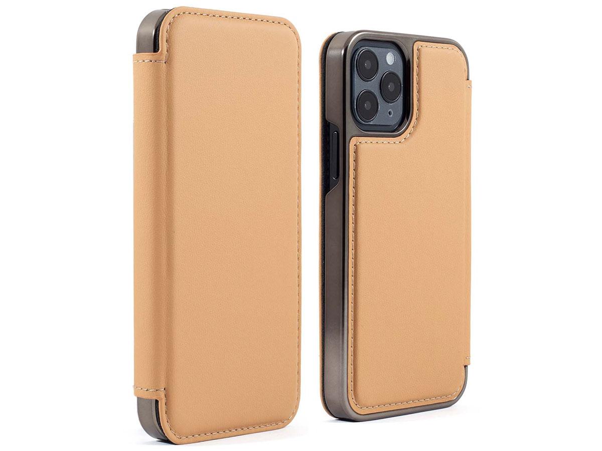 Greenwich Blake Leather Folio Caramel - iPhone 12 Pro Max Hoesje Bruin