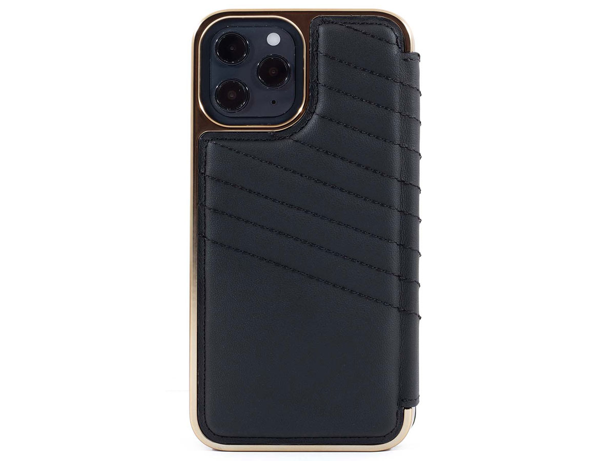 Greenwich Portland MagSafe Folio Beluga/Gold - iPhone 12 Pro Max Hoesje
