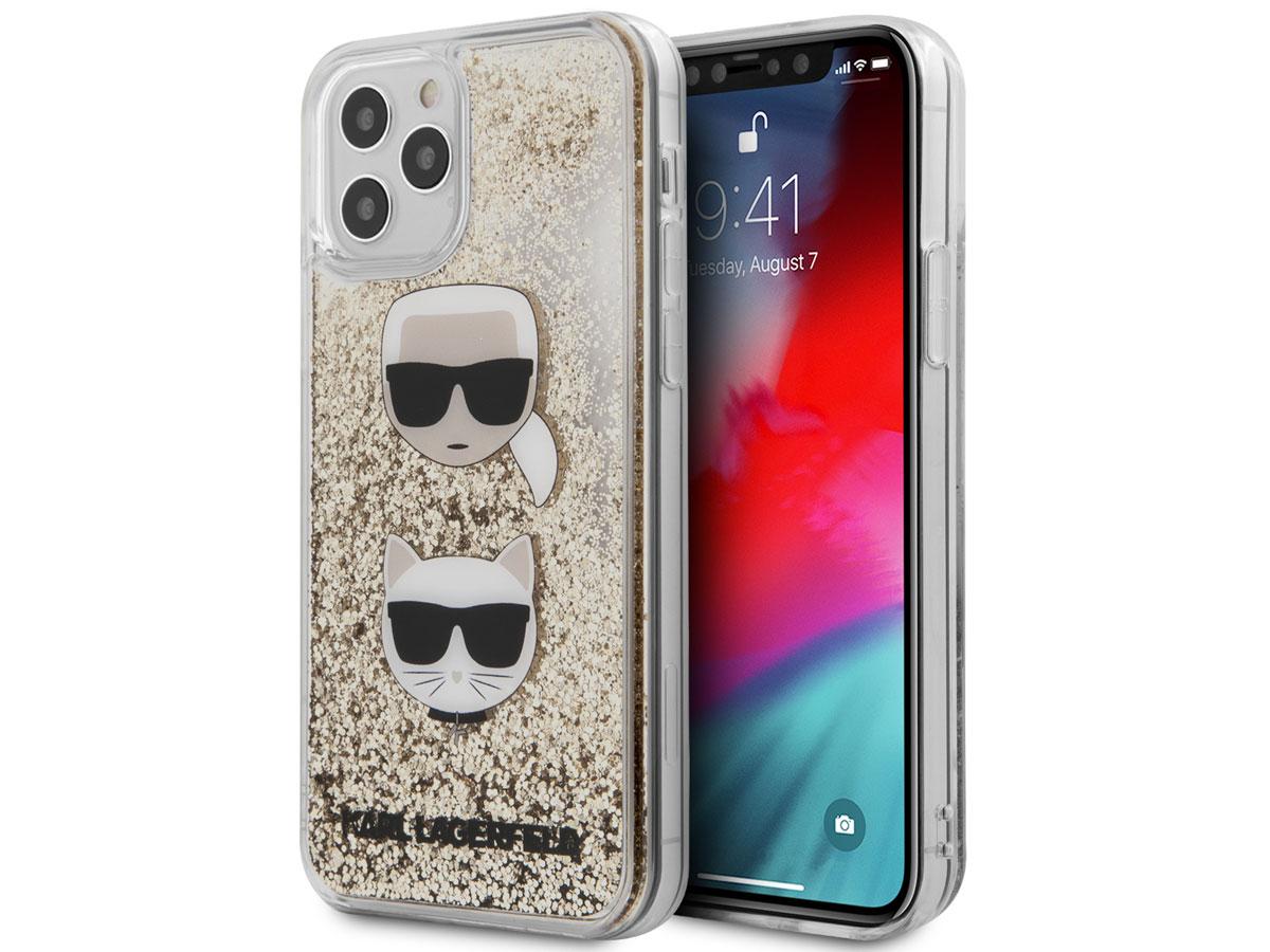 Karl Lagerfeld Choupette Glitter Case Goud - iPhone 12 Pro Max hoesje