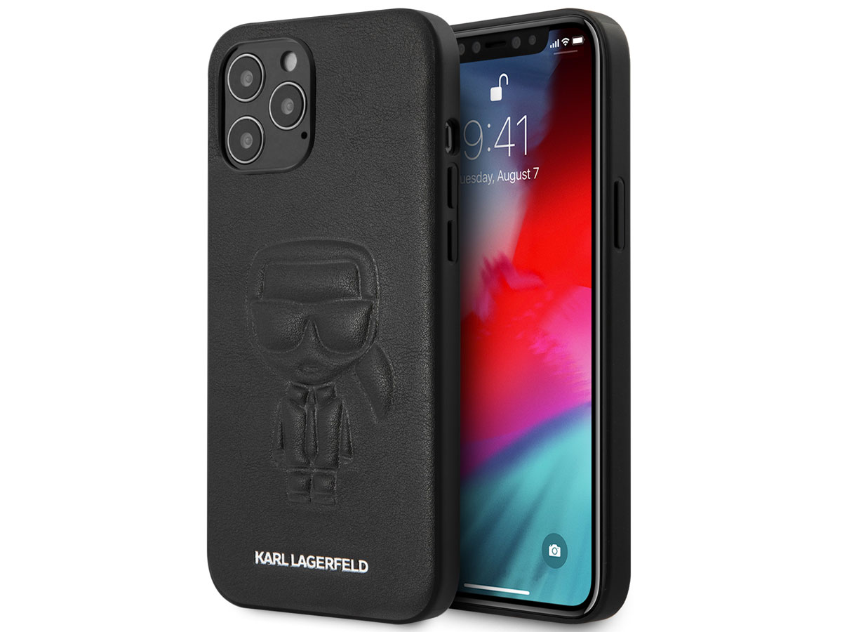 Karl Lagerfeld Ikonik Outline Case Zwart - iPhone 12 Pro Max hoesje