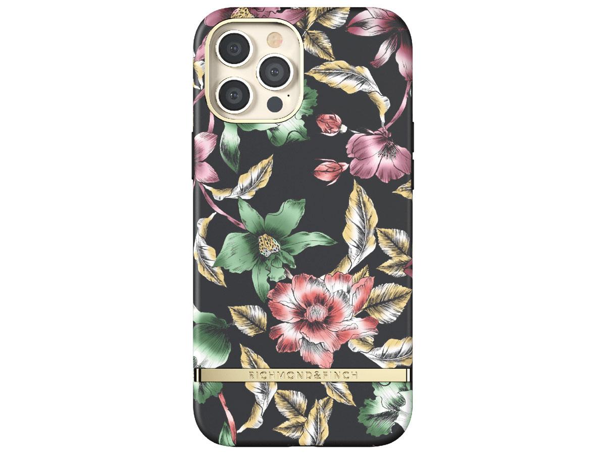 Richmond & Finch Flower Show Case - iPhone 12 Pro Max hoesje Zwart