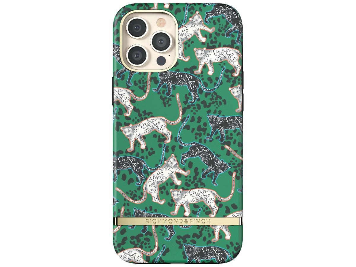 Richmond & Finch Green Leopard Case - iPhone 12 Pro Max hoesje Groen