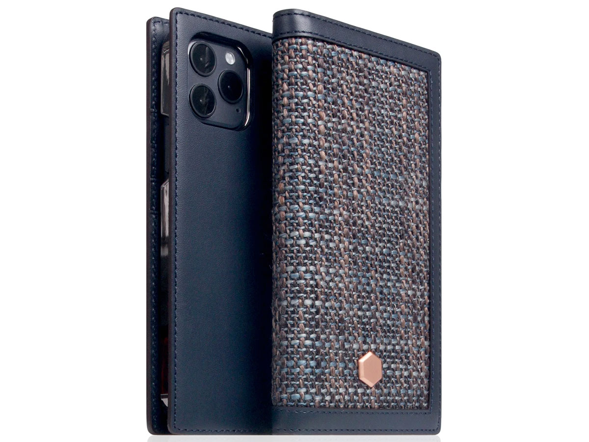 SLG Design D5 CSL Donkerblauw Leer - iPhone 12 Pro Max hoesje