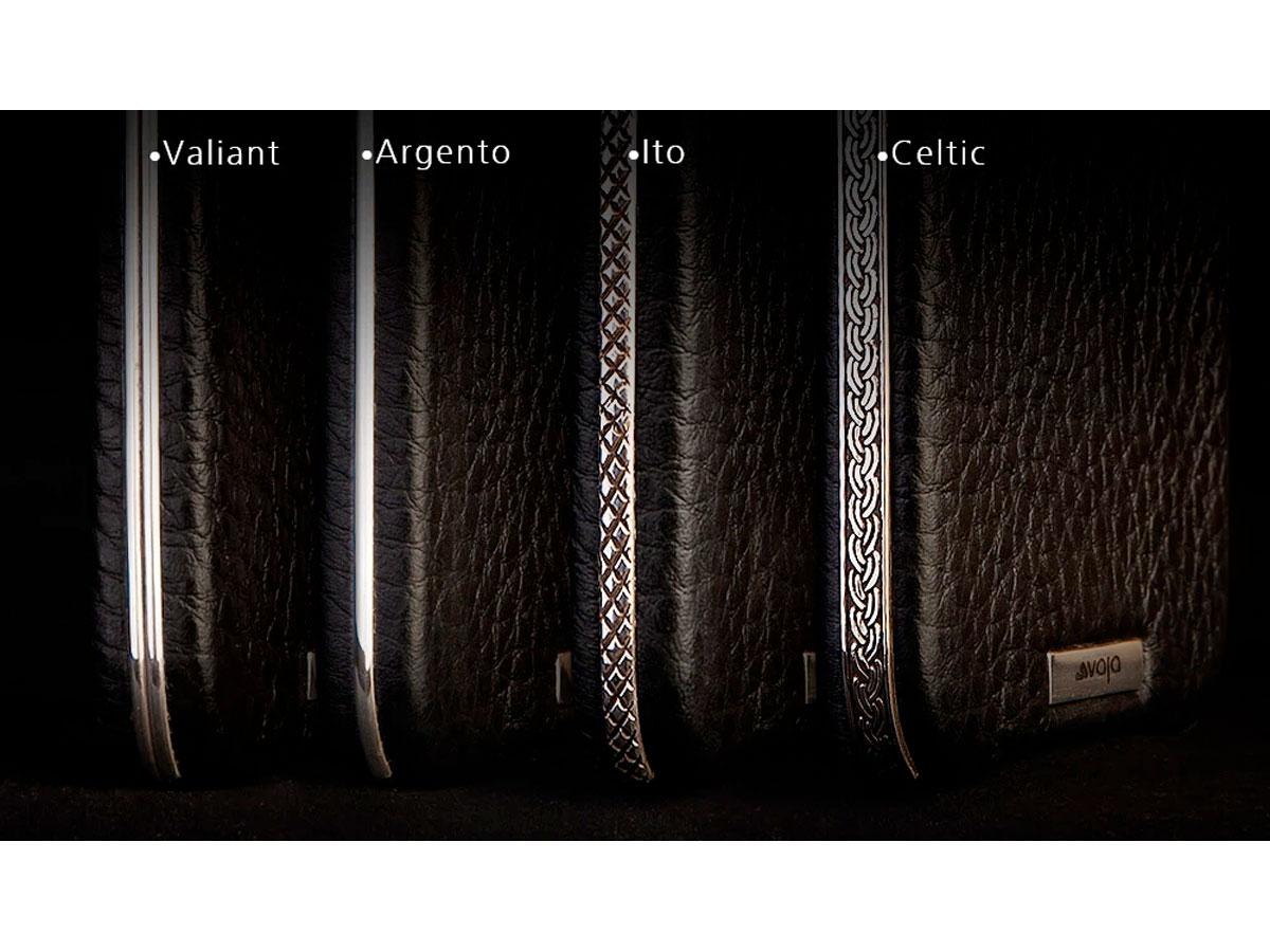 Vaja Silver MagSafe Wallet Ito - Leren iPhone 12 Pro Max Hoesje met Zilver