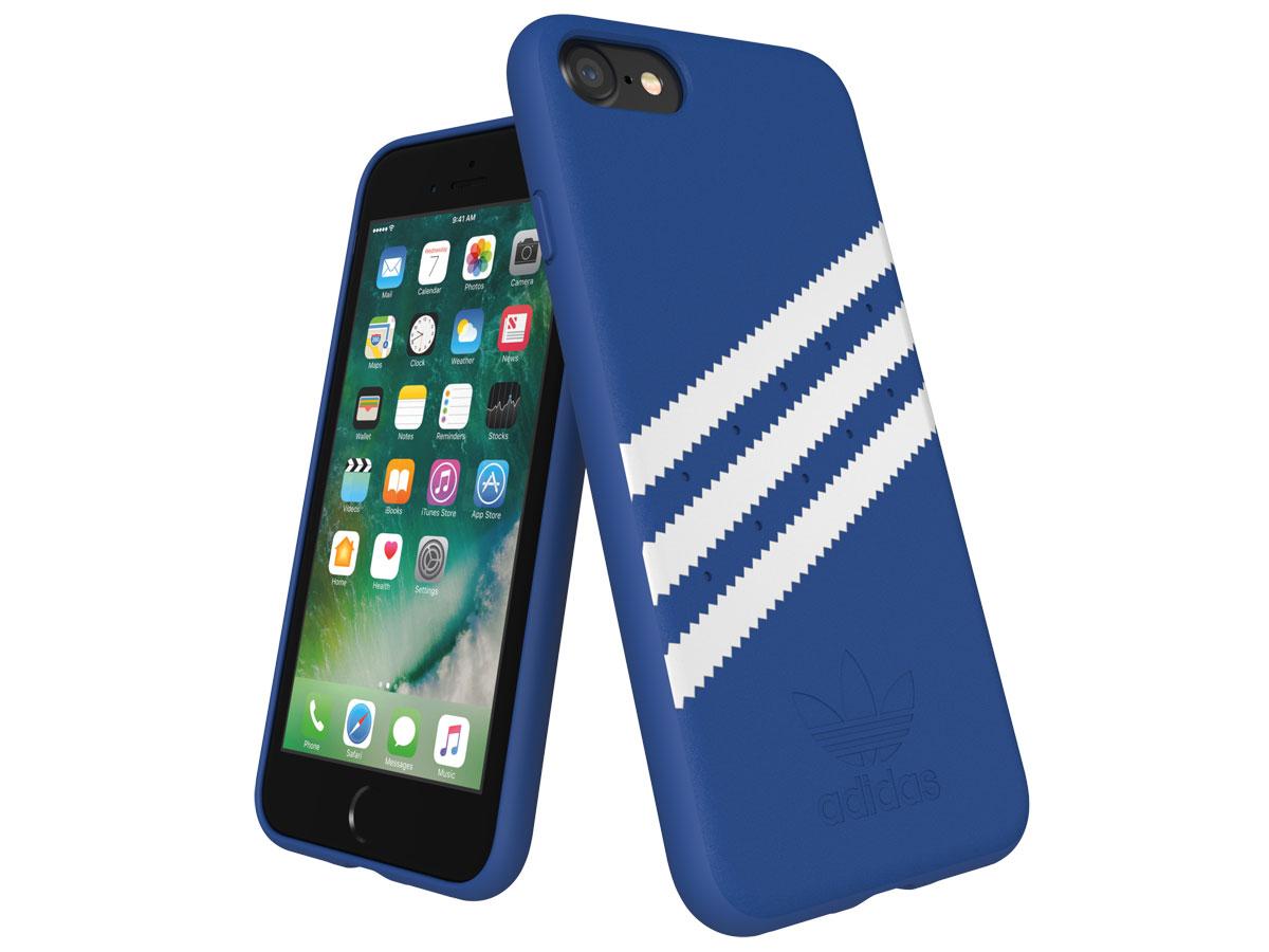 adidas Suède Back Case Blauw - iPhone SE 2020/8/7/6 hoesje