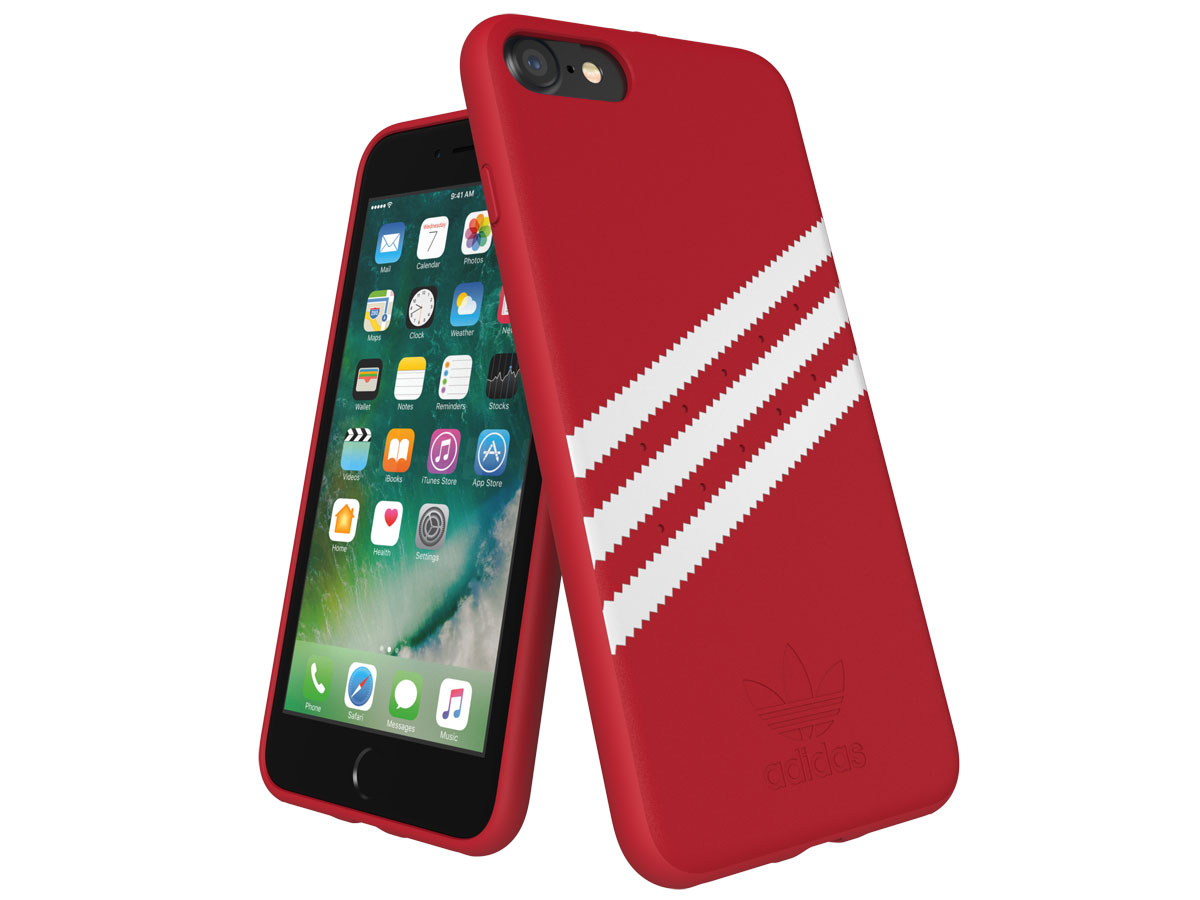 adidas Suède Back Case Rood - iPhone SE 2020/8/7/6 hoesje