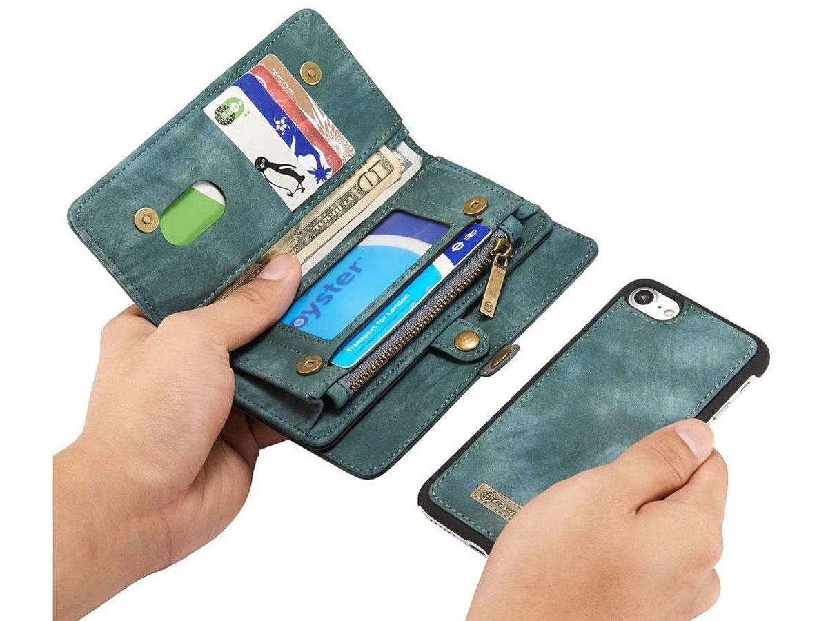 CaseMe 2in1 Wallet Ritsvak Case Blauw - iPhone SE 2020/8/7 Hoesje