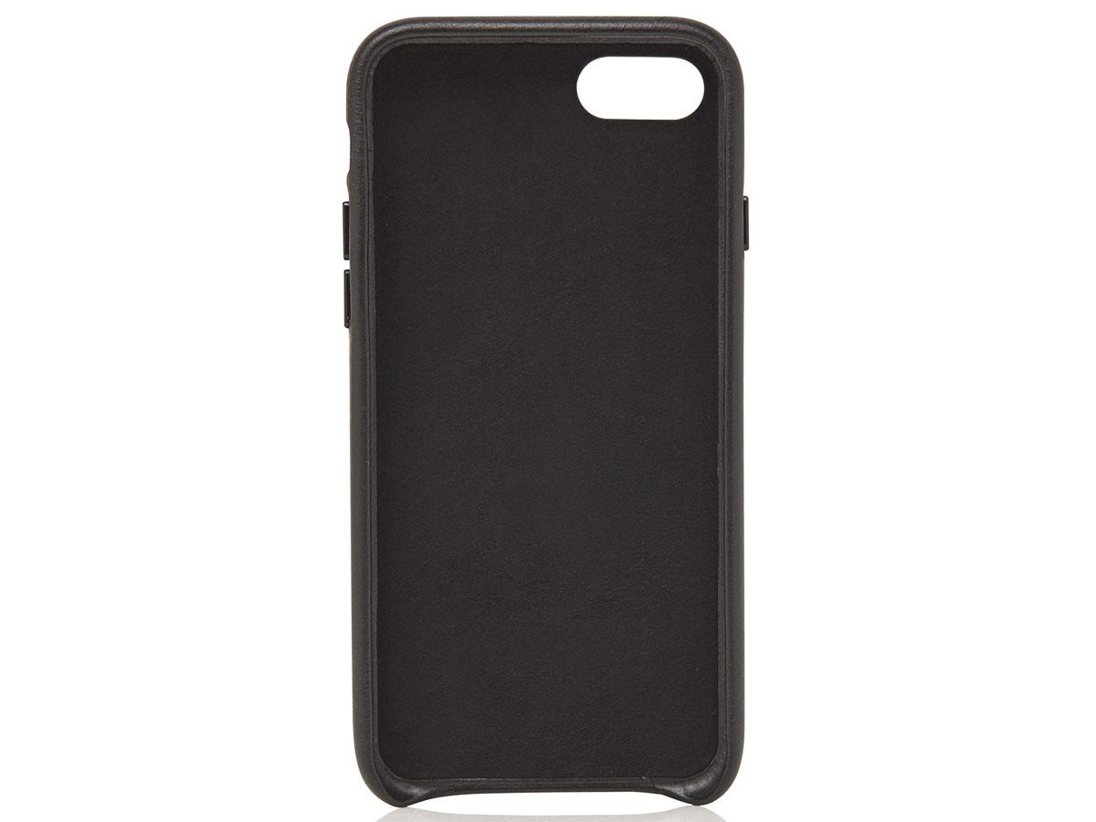 Castelijn & Beerens Back Case Zwart Leer - iPhone SE 2020/8/7 hoesje